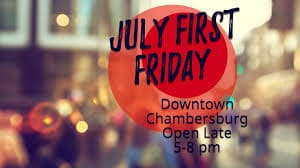 Downtown Chambersburg Offers First Friday on July 3