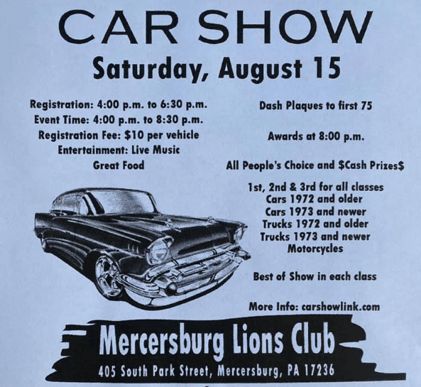 Mercersburg Lions Club Car Show